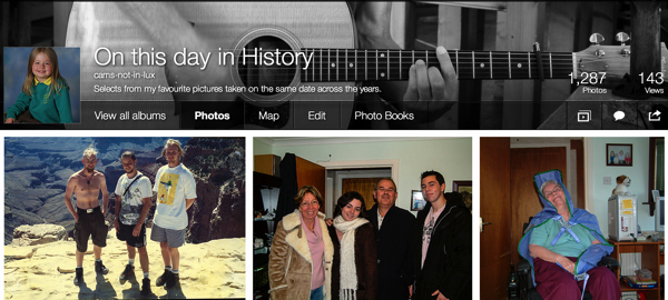 Screenshot of my Flickr album